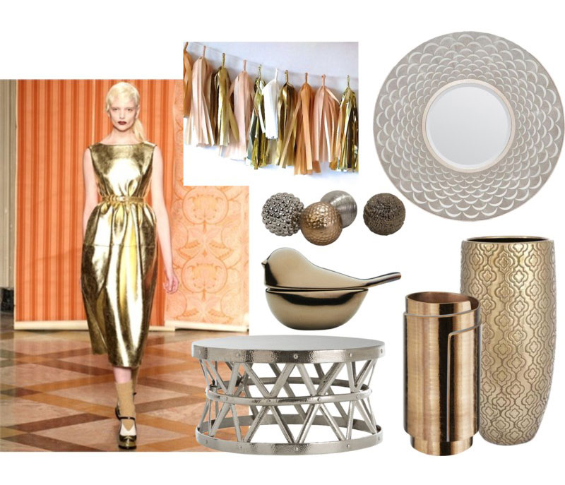 Fashion Influence In Home Decor Metallic