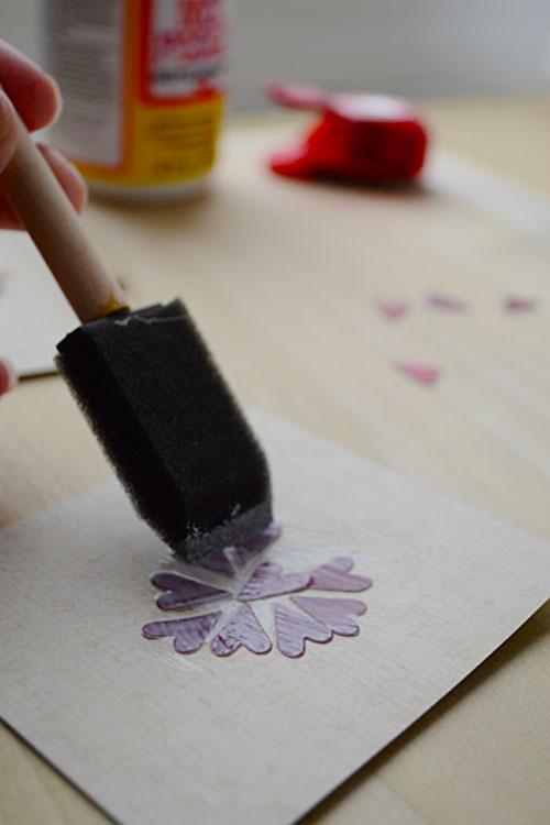 Valentine Mod Podge Art | Storypiece.net