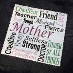 Mother's Day Tote with Subway Art