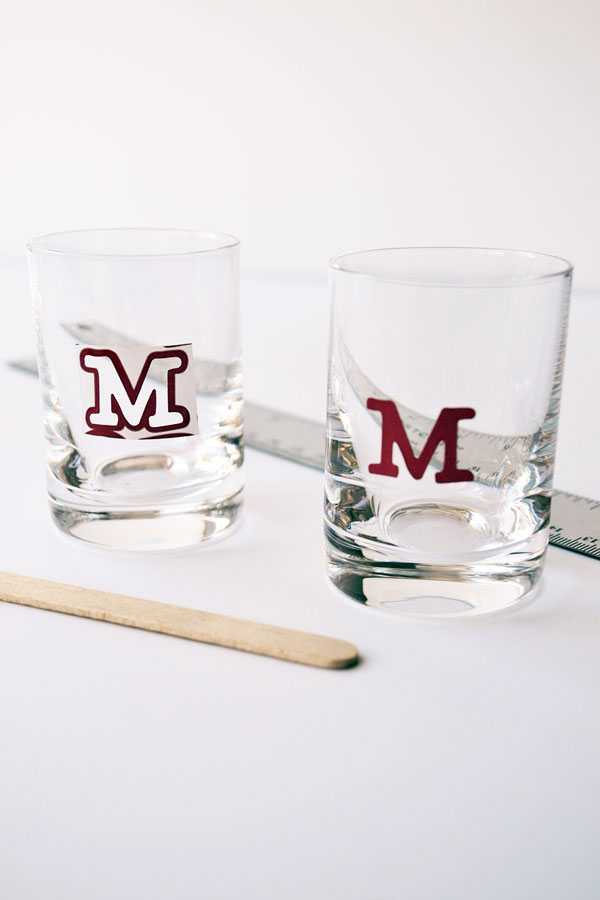 How to Monogram Shot Glasses | Storypiece.net