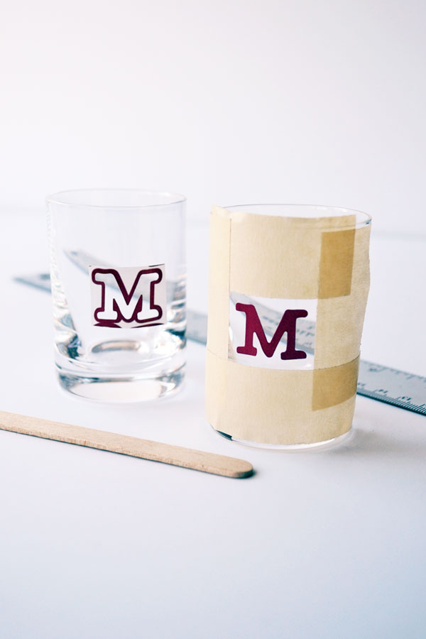 Monogrammed Shot Glass Tutorial | Storypiece.net