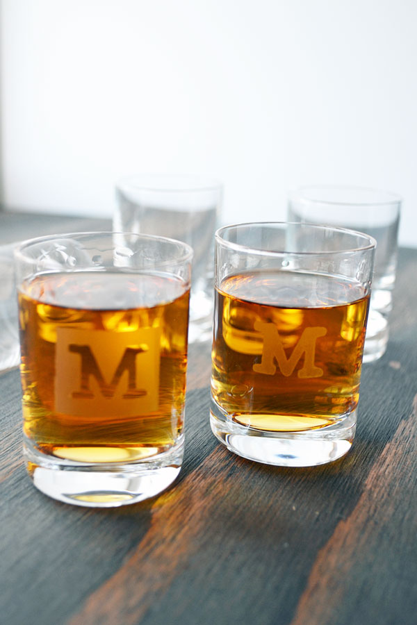 Monogrammed Shot Glasses Tutorial | Storypiece.net