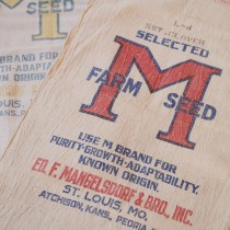 How to Frame Vintage Seed Bags | Storypiece.net