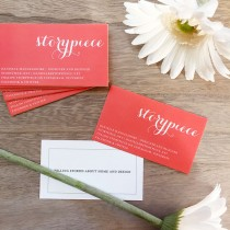 Beautiful Blog Business Cards | Storypiece.net