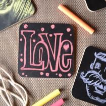 Chalk Art Coasters | Storypiece.net