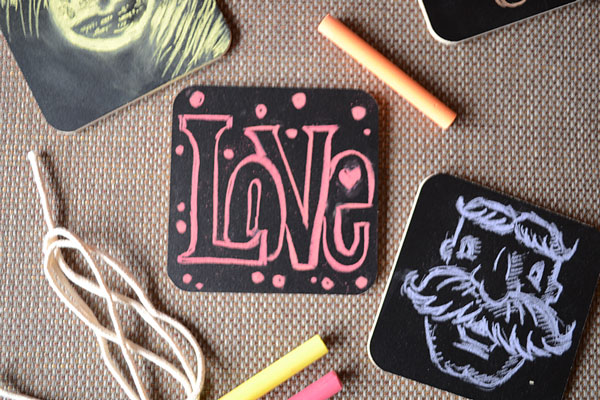 Chalk Art Coasters | Storypiece.net