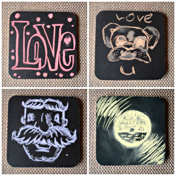 Creative Chalk Art Coasters | Storypiece.net