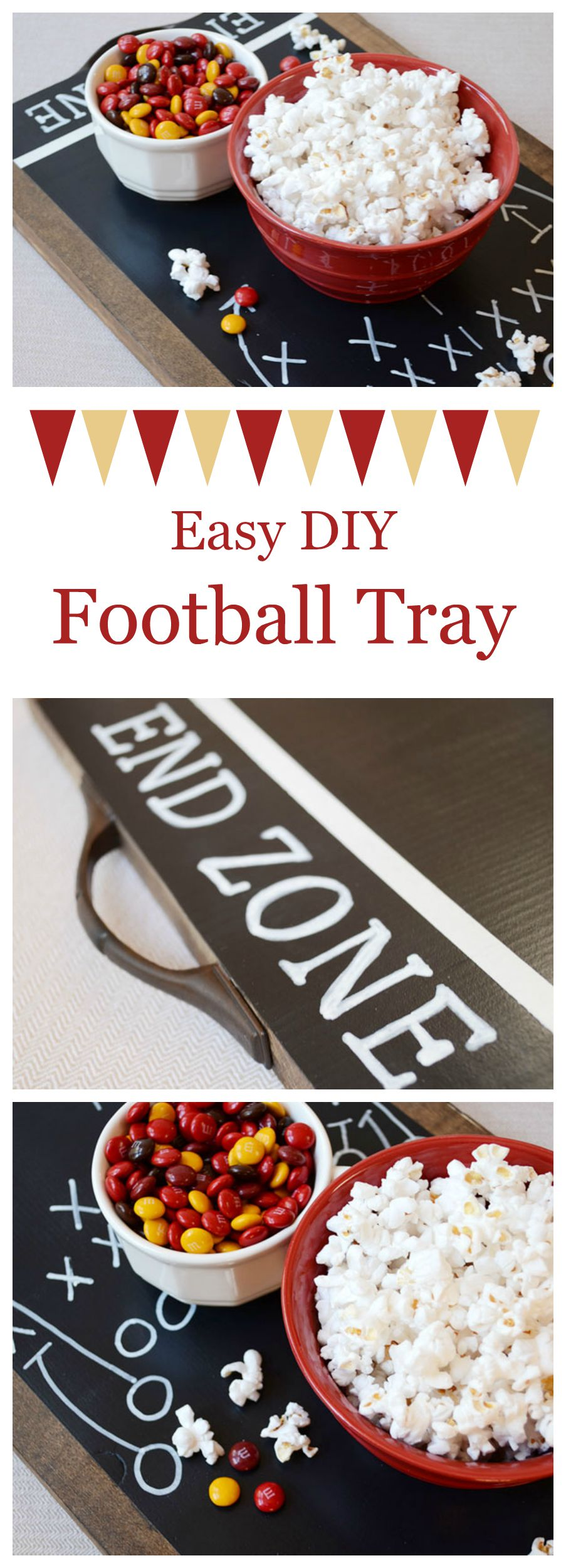 Easy DIY Football Tray | Storypiece.net