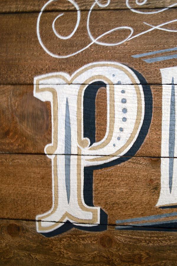 Hand-painted Pixelgarden Sign | Storypiece.net