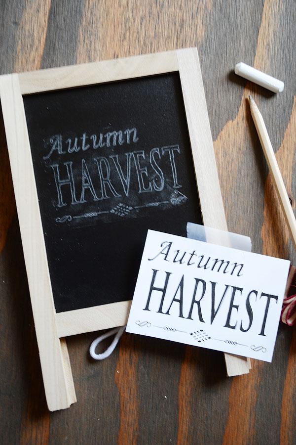 Autumn Chalk Lettering | Storypiece.net