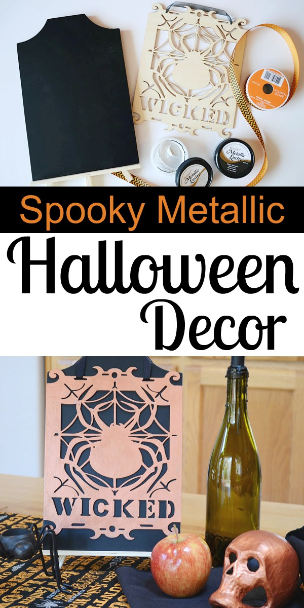 How to Make Spooky Metallic Halloween Decor