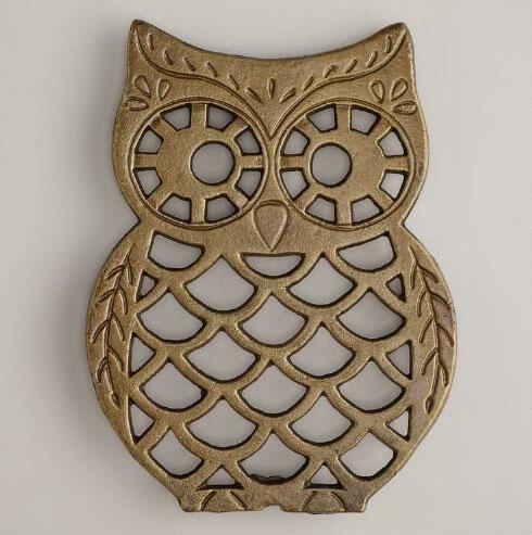 Brass Owl Trivet | Storypiece.net