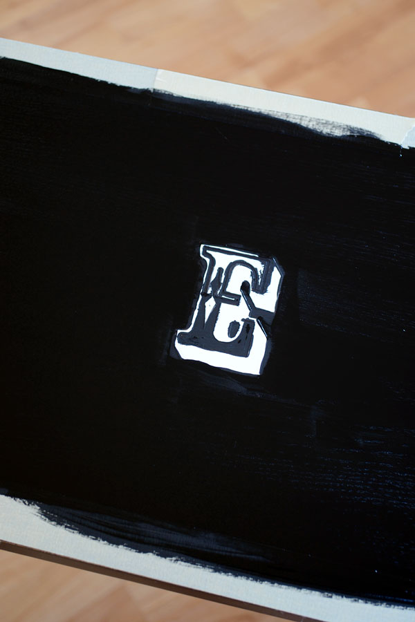 Chalk Paint Monogram Bar Stool | Storypiece.net