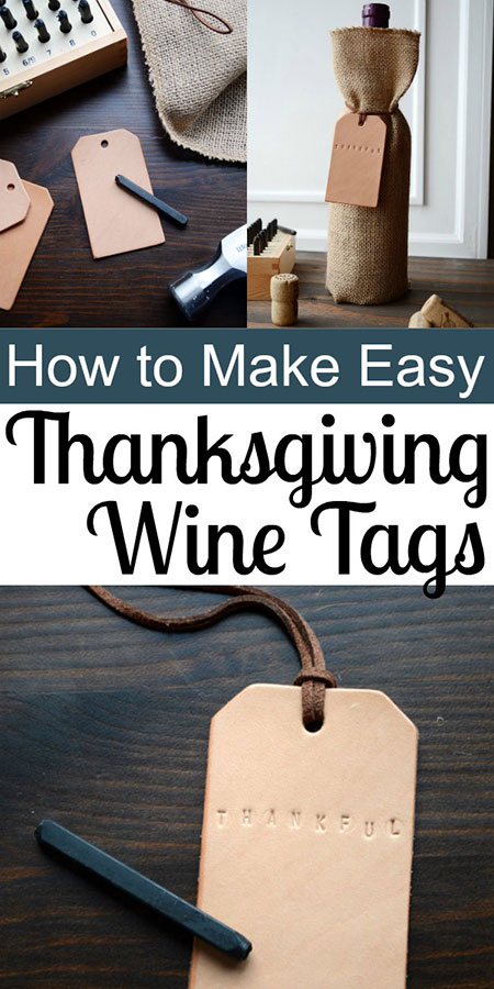 Easy Thanksgiving Wine Tags