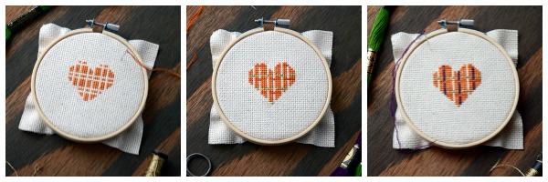 Plaid Cross-stitch Heart | Storypiece.net