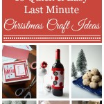 16 Last Minute Christmas Crafts