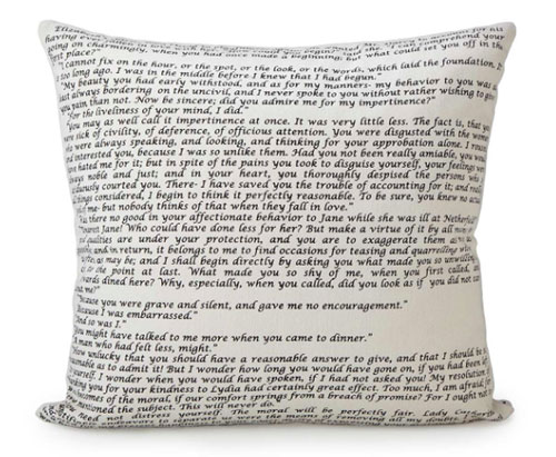 Pride & Prejudice Pillow