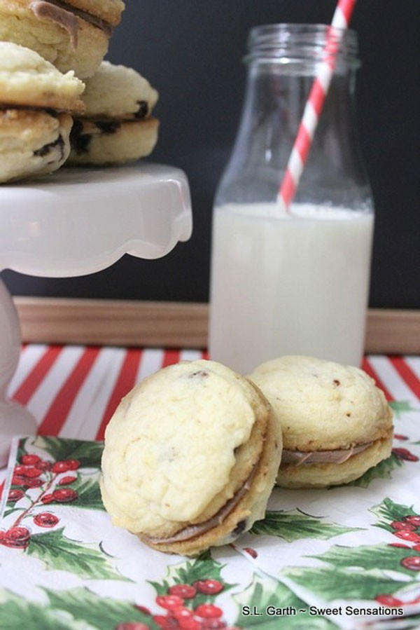 Cinnamon Chocolate Chip Sandwich Cookies