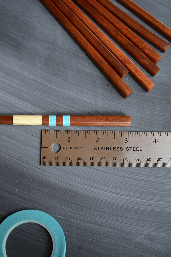 Easy DIY Chopsticks - Color Blocking | Storypiece.net