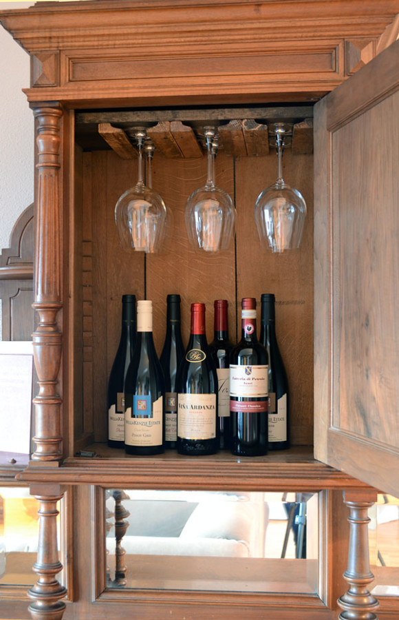 Installed Custom Wine Glass Rack | Storypiece.net