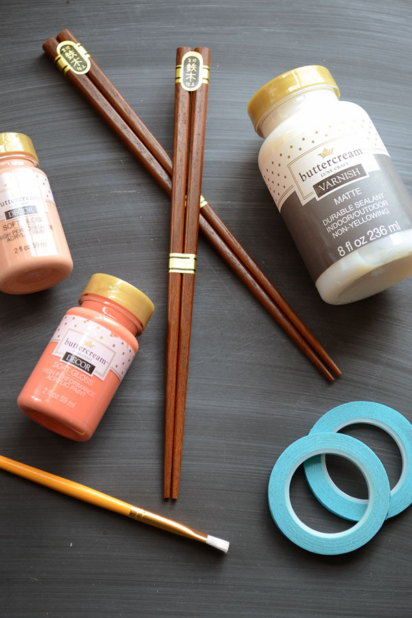 Supplies for Color Block Chopsticks | Storypiece.net