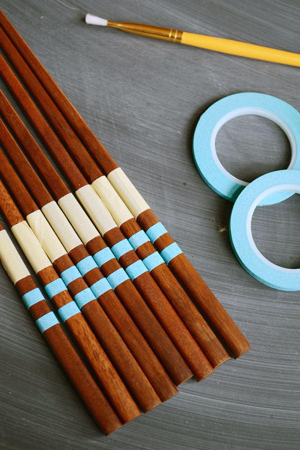 Valentine's Day Craft - Color Block Chopsticks | Storypiece.net