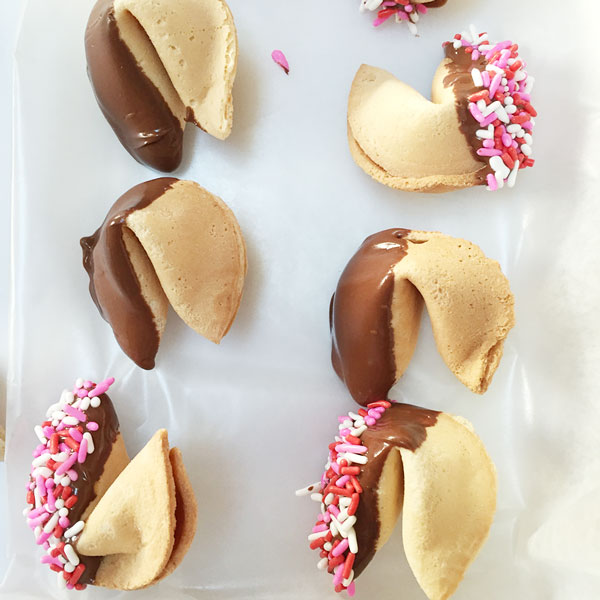 Chocolate Dipped Fortune Cookies | Storypiece.net