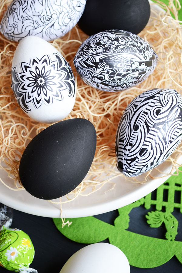 Black & White Easter Eggs | Storypiece.net