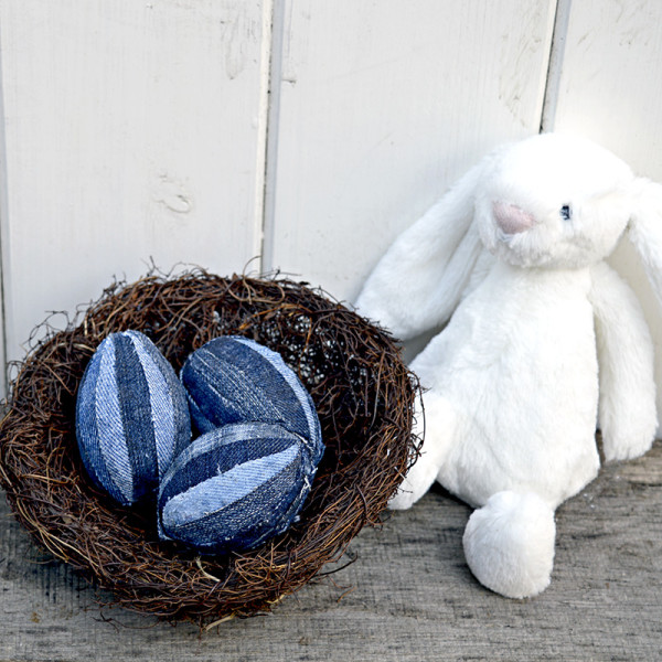 Denim Easter Eggs