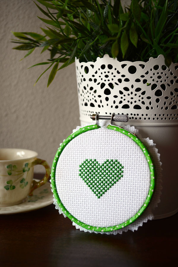 Irish Checkered Heart for St. Patrick's Day | Storypiece.net