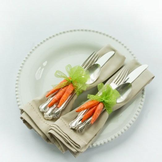 DIY Carrot Napkin Rings
