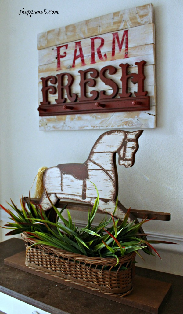 Farm Fresh Sign Above Horse