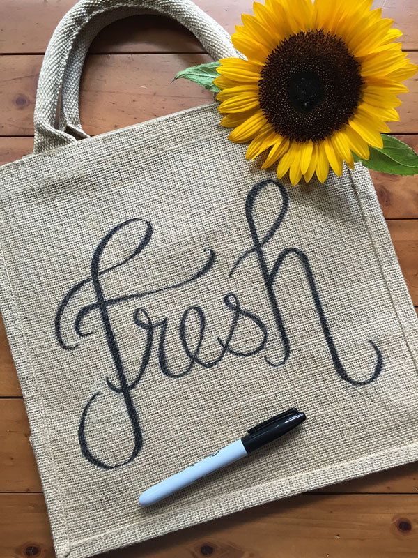 Sharpie Hand Lettered Tote Bag | Storypiece.net