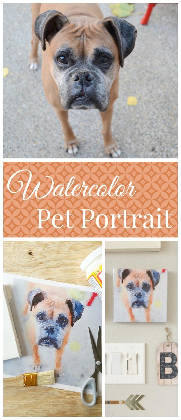 DIY Watercolor Pet Portrait | Storypiece.net
