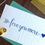 Hand Lettered Pillow