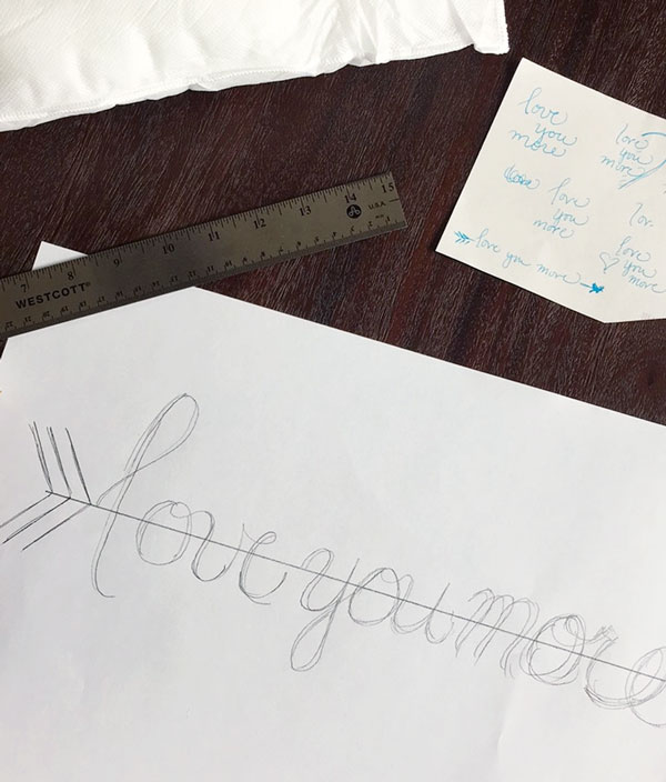 Hand Lettering for a Pillow | Storypiece.net