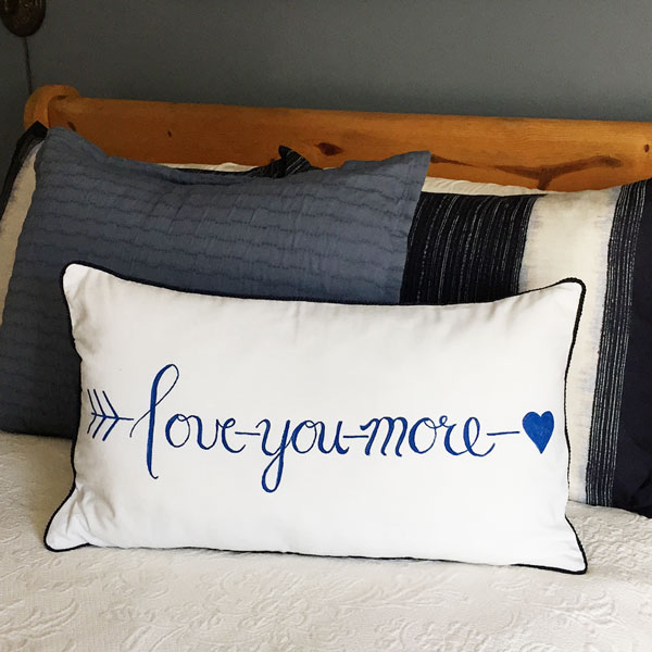 Love You More Pillow | Storypiece.net