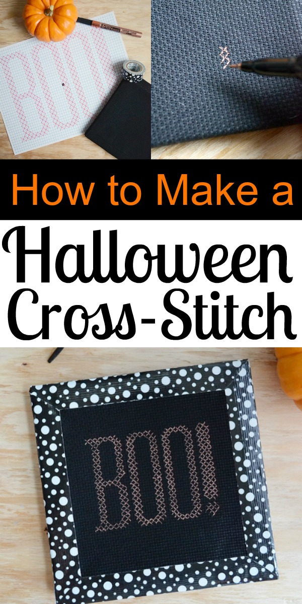 How to Make a Halloween Cross-Stitch
