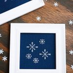 Easy Backstitch Tutorial with Simple Snowflake Pattern (Free)