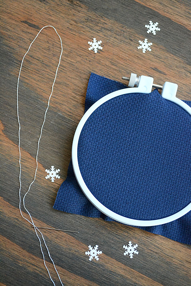 Backstitch Tutorial and Free Snowflake Pattern | Storypiece