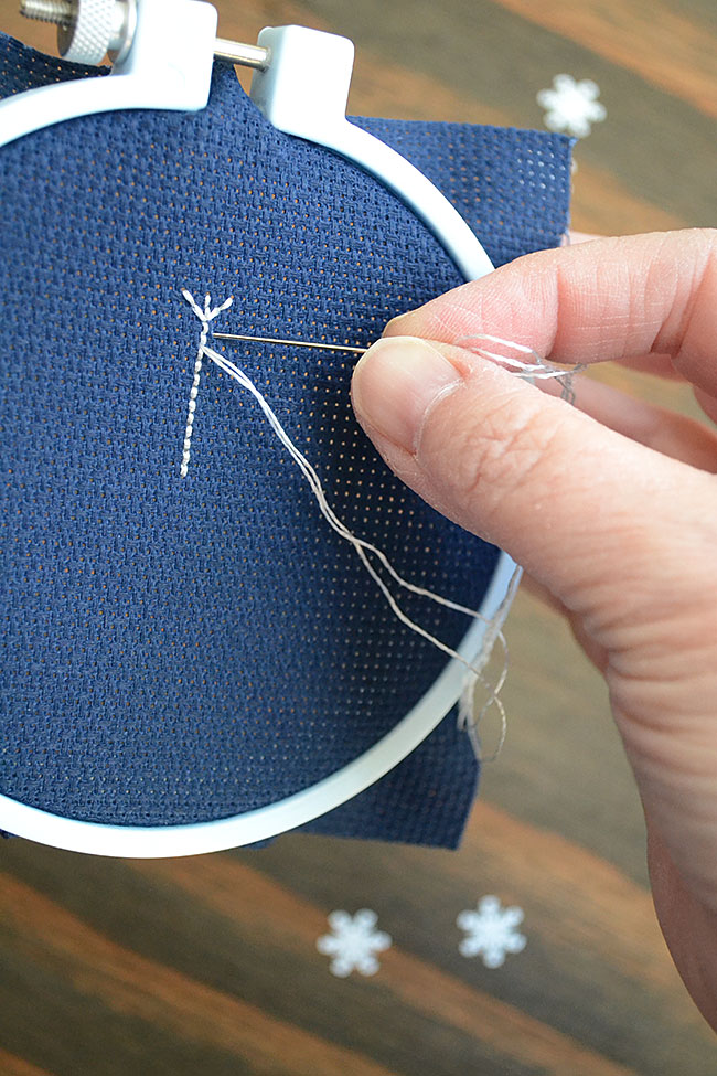 Learn how to backstitch with this easy cross-stitch tutorial. This guide includes simple snowflake patterns for free to get you started.