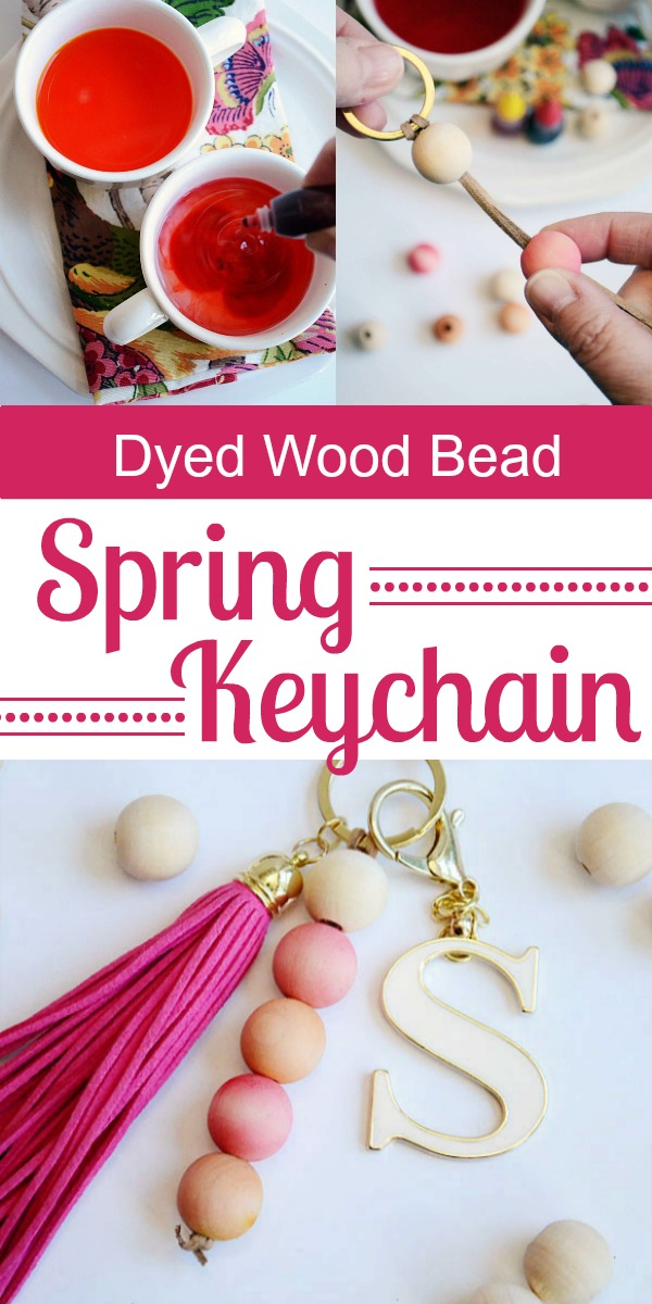 How to Dye Wood Beads for an Awesome Keychain Tutorial | Storypiece.net