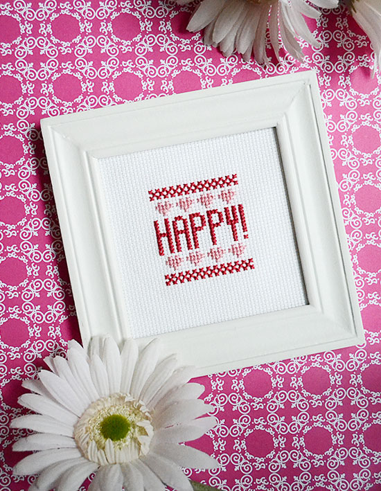 Subscribe for weekly quick and easy cross-stitch patterns for beginners