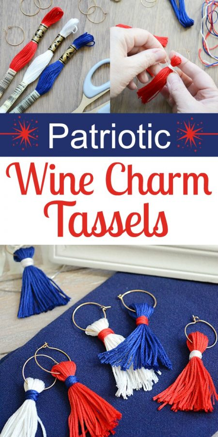 Spectacular Wine Charm Tassels for Your Summer Entertaining