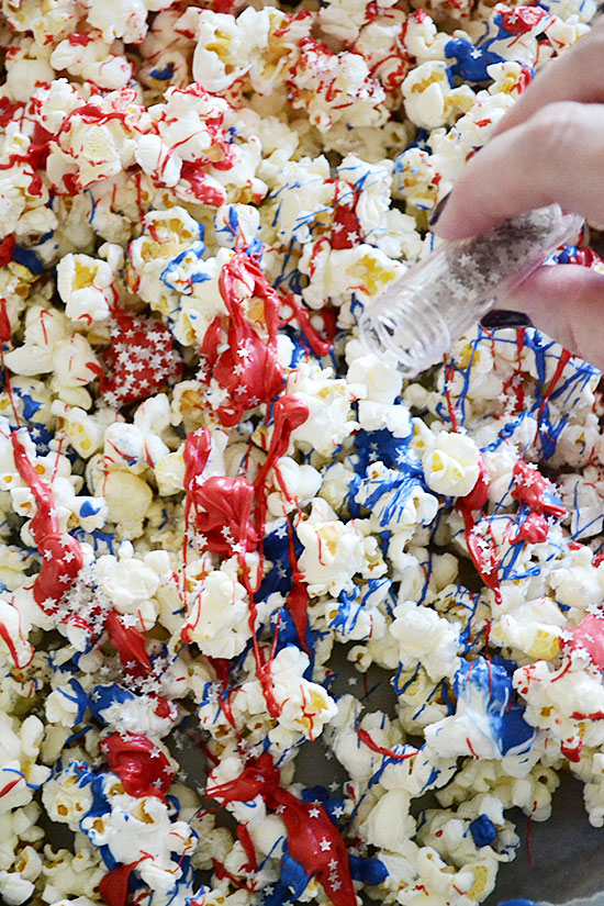 Insanely Easy Red, White & Blue Popcorn People Will Love
