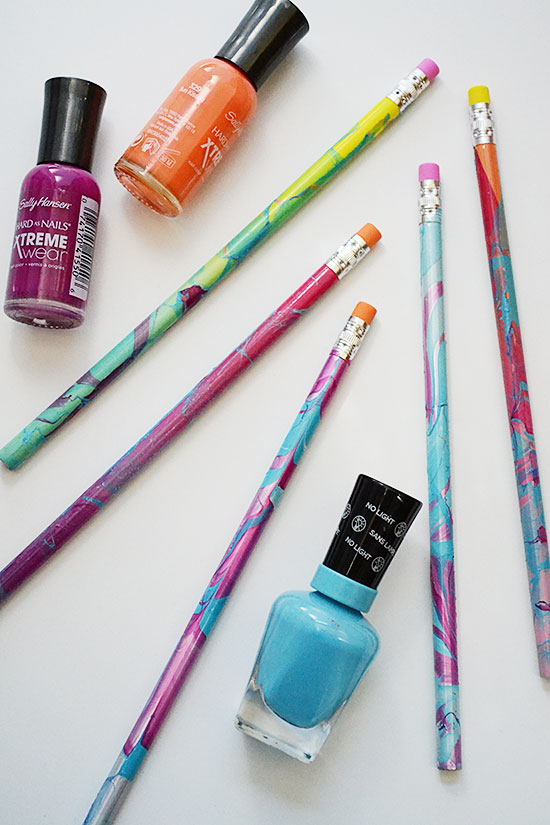 Easy DIY Marbled Pencils for Back to School