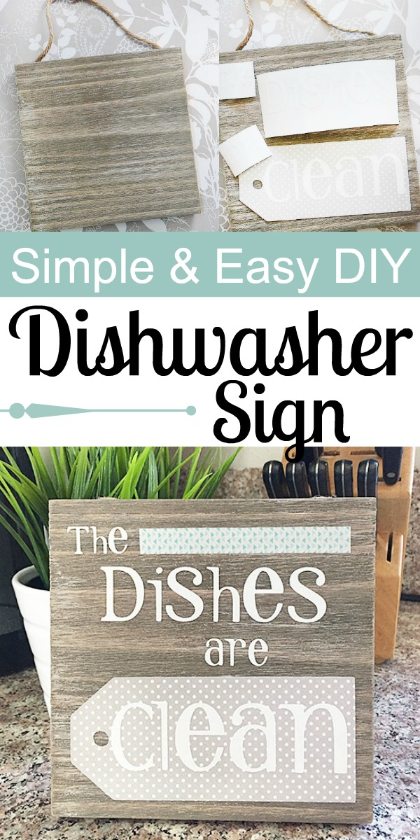 Simple and Easy DIY Dishwasher Sign Every Home Needs