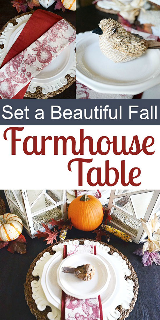 How to Set a Beautiful Farmhouse Table for Fall