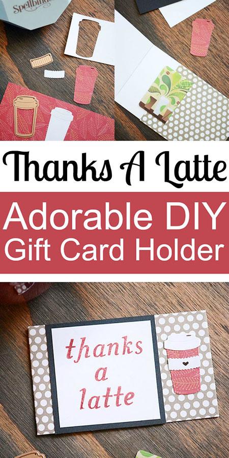 Super Adorable DIY Thank You Gift Card Holder
