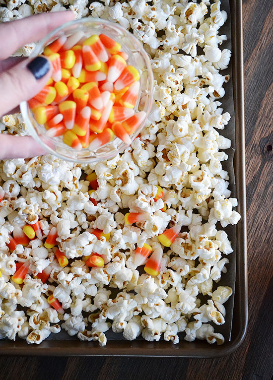 Beware! How to Make Dangerously Good Candy Corn Popcorn